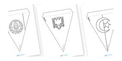 Colouring Flags Bunting Buntings Save Teacher