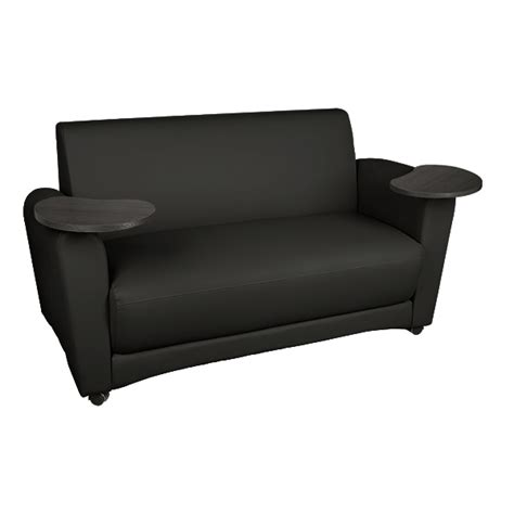Learniture Common Area Sofa W Tablet Arms At School