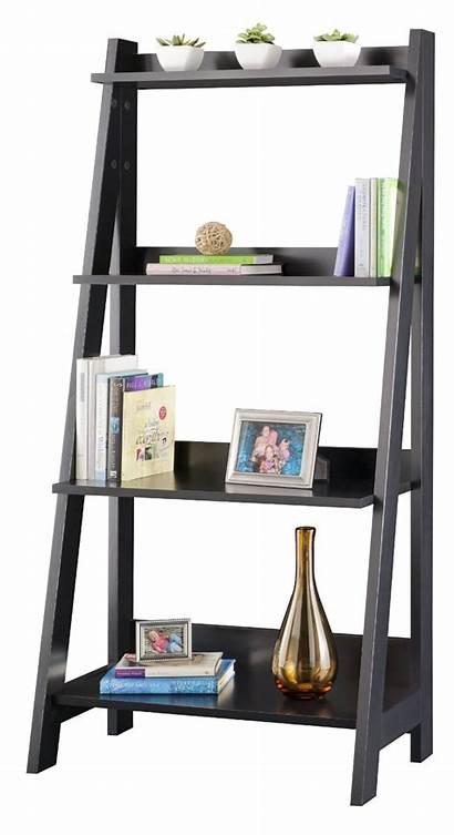 Ladder Bookcase Bathroom Shelf Shelves Tier Inch