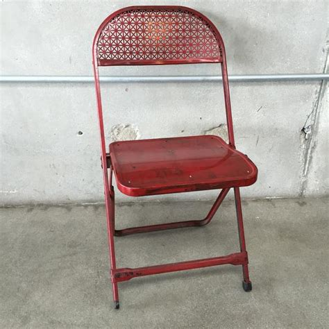 vintage metal folding card table and 4 chairs