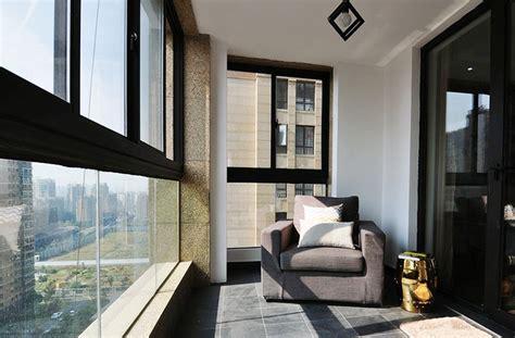 modern minimalist enclosed balconyinterior design