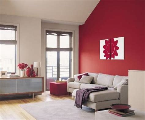 Red Feature Wall To Warm The Room  Lounge Renovations