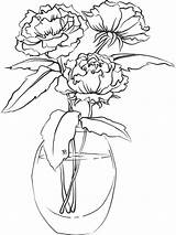 Peony Coloring Flower Pages Flowers Printable Colors Recommended Mycoloring sketch template