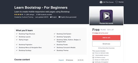 learn bootstrap  beginners highest rated