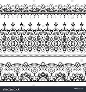 Royalty-free Indian, Mehndi Henna three line lace