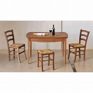 Table De Cuisine En Bois : table de cuisine en bois avec allonges auvergne ~ Teatrodelosmanantiales.com Idées de Décoration