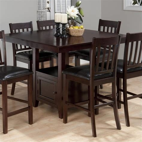 counter height kitchen tables with storage jofran counter height square storage dining table in tessa 9489