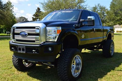 ford   super duty platinum lifted diesel