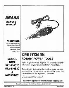 Craftsman 572 610530 User Manual