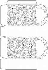 Bag Flowers Colouring Party Moss Rock Template Coloring Printables Pages Bags Gift Rooftop sketch template