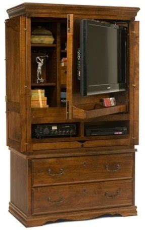 Tv Armoires For Flat Screens Tv Armoire With Doors And Drawers Foter