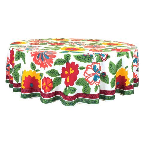 Flower Power Tablecloth   Pacific & Rose Textiles