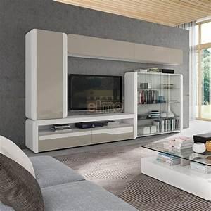 Meuble Tv Living : composition murale meuble t l vision living moderne ~ Teatrodelosmanantiales.com Idées de Décoration