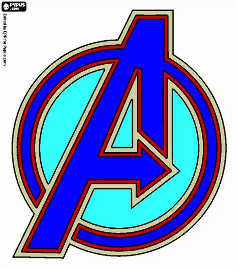 simbolo avengers da colorare