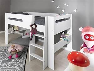 Lit Mi Haut Enfant : lit mi hauteur enfant chambre kids ~ Teatrodelosmanantiales.com Idées de Décoration