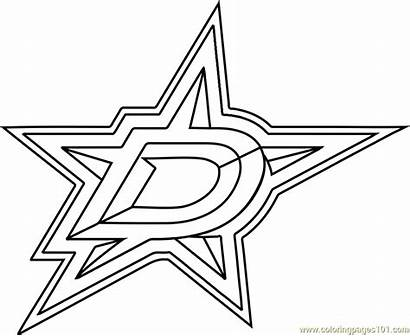 Dallas Stars Coloring Pages Nhl Coloringpages101