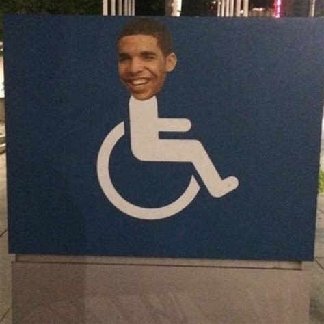 Drake Meme Wheelchair - degrassi returns as drake s face is plastered on toronto wheelchair signs gigwise