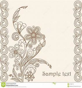 Hand Drawing Floral Pattern Stock Vector - Image: 21369114