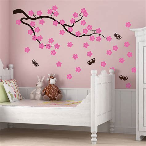 cherry blossom branch wall stickers  parkins interiors