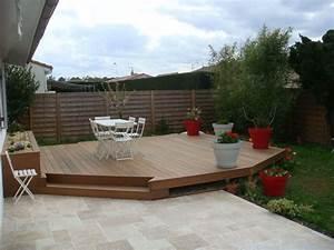 realisation d39une terrasse en bois exotique et d39une With decaper une terrasse en bois