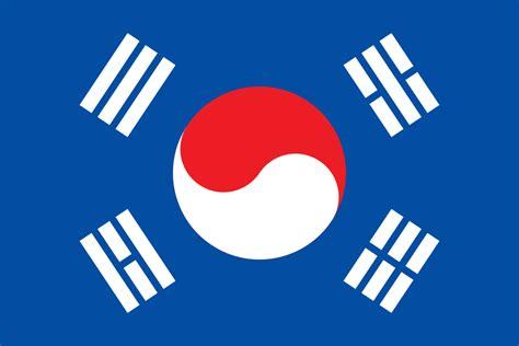 South Korean Flag Using The Colors Or North Korean Flag