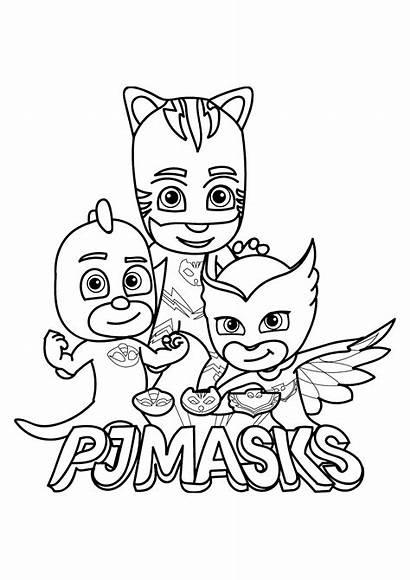 Coloring Masks Pj Children Pages Funny