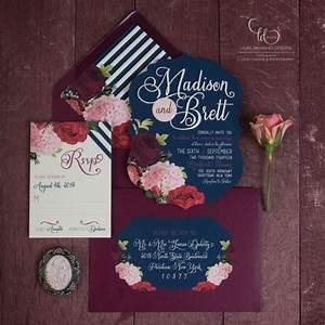 color scheme navy and fuschia keetobe invitations With wedding invitation color etiquette