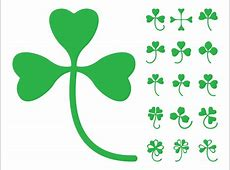 Clover Leaves Silhouettes Vector Art & Graphics