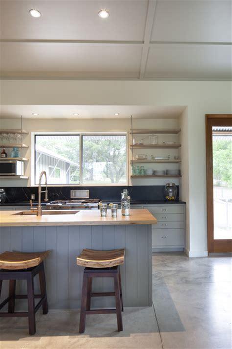kitchen island  suspended shelves