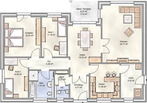 Baupläne Bungalow Mit Garage by Plan 125 Winkelbungalow Mit 125 Qm Grundriss Grundriss