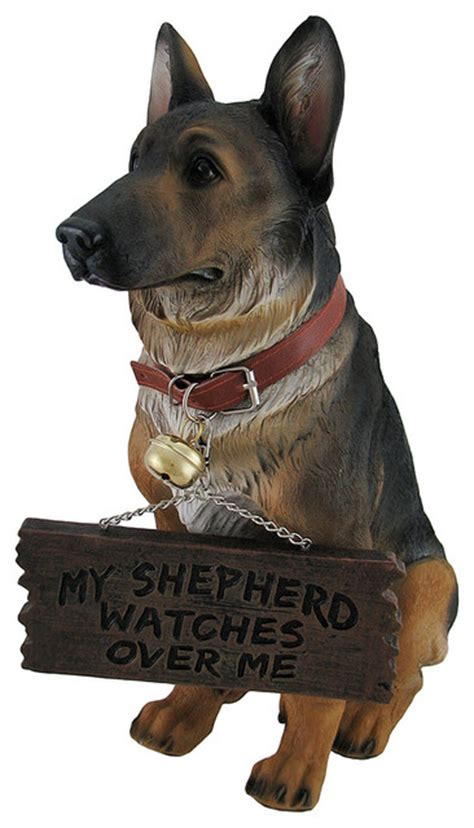 i don t 911 german shepherd guard warning statue