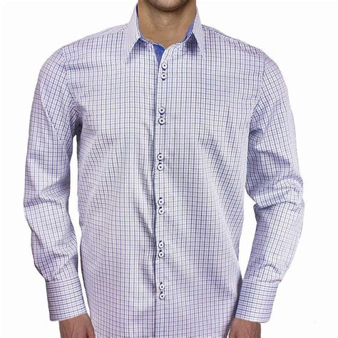 mens designer dress shirts blue plaid dress shirts