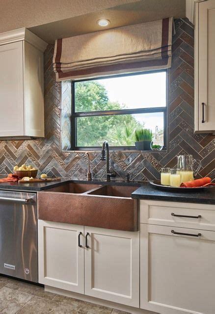 Transitional Rustic  Updated Kitchen  Metallic