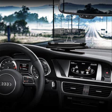 vehicle heads  display hud smartphone mount system