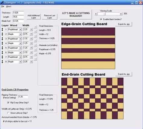 cutting board design software cbdesigner  jayman