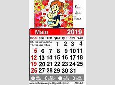 CALENDÁRIO DE 2019 BEM ILUSTRADO Mistura de Alegria