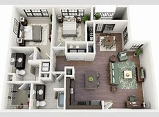 Two bedroom house plans by Crescent Ninth Street and