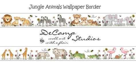 jungle girl wall border decals  baby nursery  kids