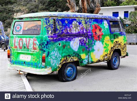 old volkswagen hippie van old painted vw cer van hippie van matala crete