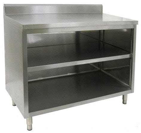 aluminium kitchen cabinet restaurant quality enclosed stainless steel base tables 1207