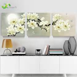 cuadros de home interiors 3 panel modern abstract flower painting on canvas wall
