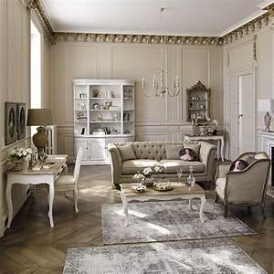 Salon Classique Chic : salon beige classique moulure maisons du monde living pi ces vivre living rooms ~ Dallasstarsshop.com Idées de Décoration