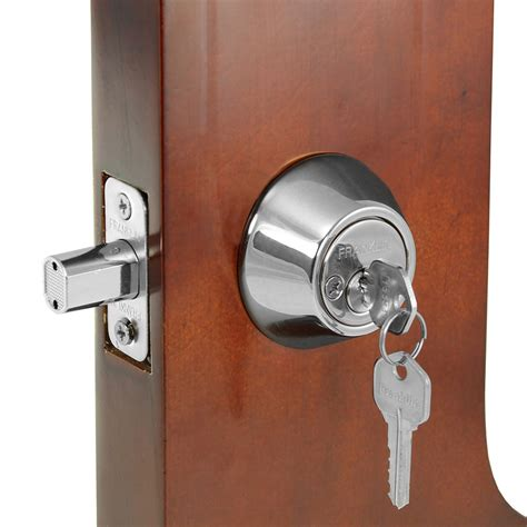 deadbolt locks for doors franklin cylinder steel rod deadbolt w the