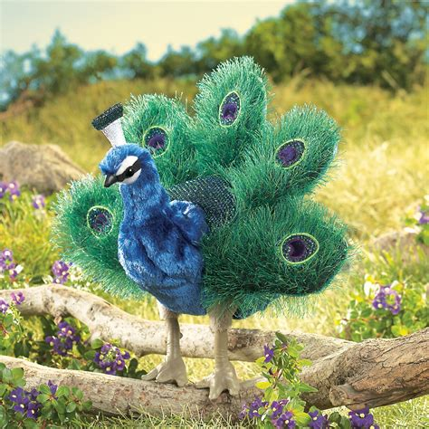 Small Peacock Puppet By Folkmanis Puppets