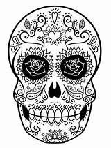 Skull Coloring Sugar Pages Printable Adult Sheets Drawing Mandala Dead Uploaded User sketch template