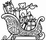 Coloring Sleigh Gifts Sled Crafts Preschool Comment Kindergarten sketch template