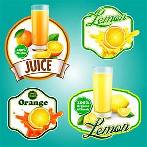 Vector fruits juice label Free vector for free download ...