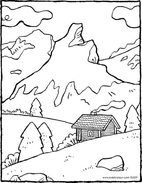 paysage de montagne kiddicoloriage