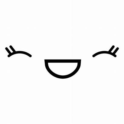 Kawaii Laughing Emoticon Female Transparent Svg Vector