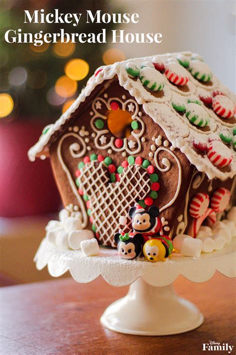 mickey gingerbread house disney family